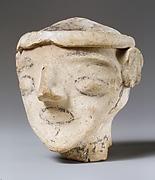 Terracotta male head