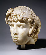 Marble portrait head of Antinoos