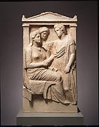 Marble stele (grave marker) of Lysistrate