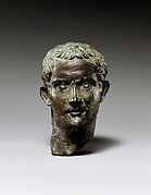 Bronze portrait head of the emperor Gaius (Caligula)