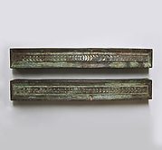 Bronze furniture attachments with silver inlay