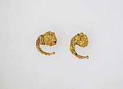 Earring with head of lion, pair
