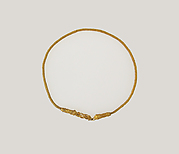 Gold necklace with lion's head terminals