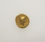 Gold aureus of Julius Caesar
