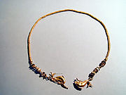 Gold chain with dolphins and glass beads