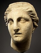 Marble head of Athena