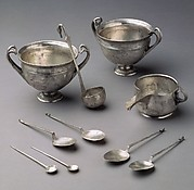 Four silver spoons