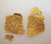 Frontlet of gold leaf