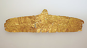 Frontlet of gold leaf