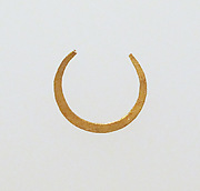 Earring-loop type, hammered flat
