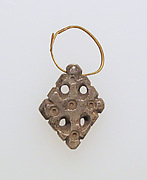 Earring with stone cross