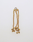 Pendant with chains and balls
