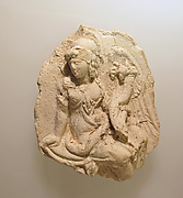Plaster cast of a metal emblema of Isis-Tyche