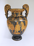 Terracotta volute-krater (bowl for mixing wine and water)