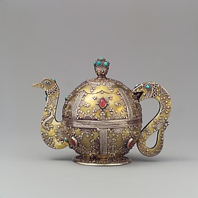 Teapot- shaped ornament