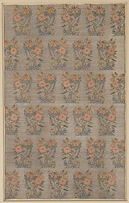Silk Fragment with Rosebush, Bird and Deer Pattern