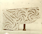 Corner of Door Frame with Scrolling Acanthus Leaves