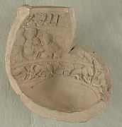 Fragment of a Mold for Making Ceramics