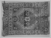 Single-Octagon Floral Rug