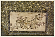Chilins (Chinese Chimerical Creatures) Fighting with a Dragon