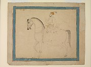 Nawab Muzaffar 'Ali Khan on Horseback