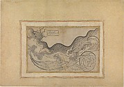 'Saz'-style Drawing of a Dragon amid Foliage