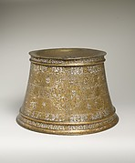 Candlestick Base with Scenes of Court Life and Zodiac Signs