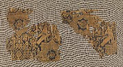 Textile with Pattern of Birds and Stars