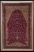 Pashmina Carpet with Gateway-and-Millefleur Pattern