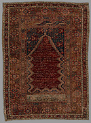 Prayer Rug with Inscription in Niche