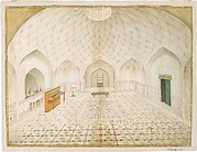Interior of a Mughal Tomb or Hammam Furnished According to English Taste