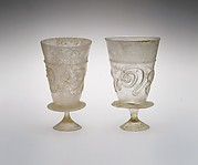 Goblets with applied decoration