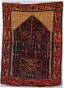 Bakhtiari Carpet with Prayer Rug Design
