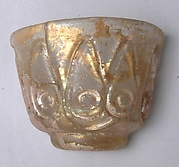 Fragmentary Cup with Molded Designs in the Beveled Style