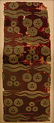 Silk Velvet Fragment with Tiger-stripe and 'Cintamani' Design