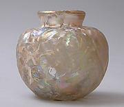 Vase with Molded Diamond Pattern