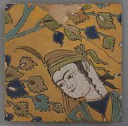 Tile Fragment of a Garden Scene Panel