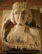 Fragment from a Relief with the Bust of a Woman