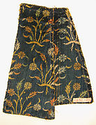 Velvet Fragment with Floral Pattern