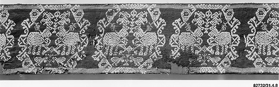 Tunic Band with Repeating Motif of Confronted Griffins