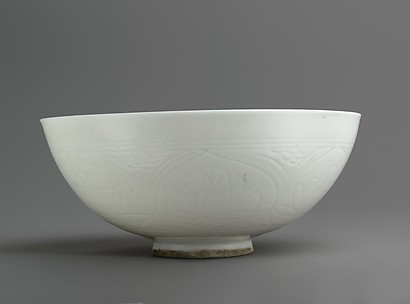 Bowl with Incised Lotus Flowers