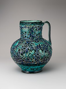 Pierced Jug with Harpies and Sphinxes