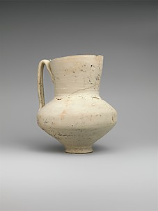 Unglazed Jug with Writing