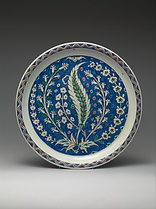 Dish with Growing Saz and Floral Design