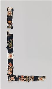 Fragment of a Band with Birds, Cross, and Head