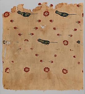 Fragment of a Hanging with Birds and Flowers