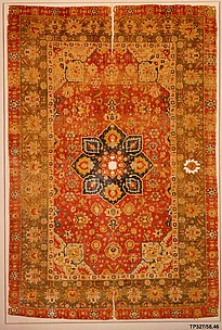 Silk 'Kashan' Carpet