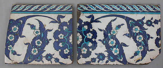 Border Tiles with 'Saz' Leaf Design
