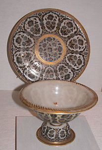 Footed Bowl and Plate