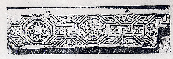 Fragment from a Frieze with Meander Pattern and Rosettes